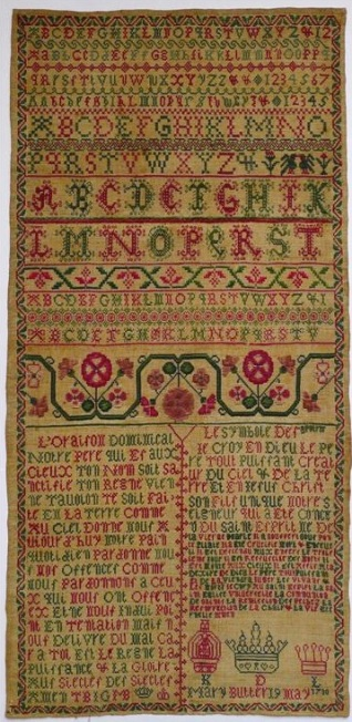 Sampler, 1730. Harris Museum and Art Gallery.