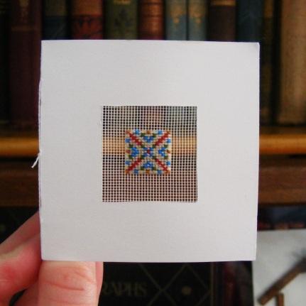 Cross Stitch Scrabble card