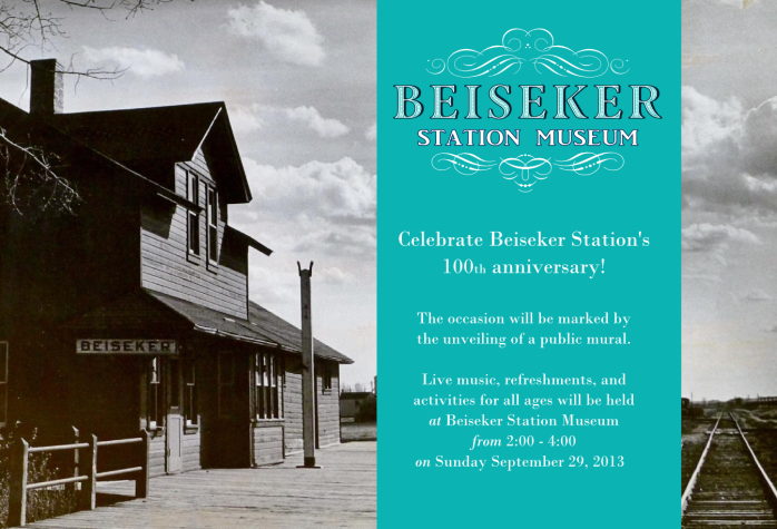invitation to Beiseker Station Centennial Celebration
