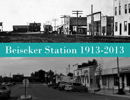 Beiseker CPR train station centennial