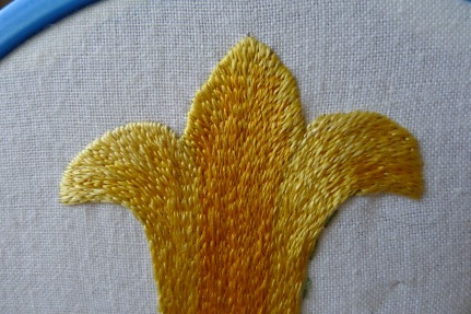 Three tone shading with silk thread.