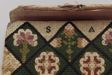 Pocket book, 18th-19th century, Museum of Fine Arts Boston. (30.115) [http://www.mfa.org/collections/object/embroidered-pocket-book-66735]